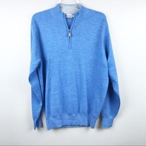 Peter Millar half zip golf sweater crown cashmere